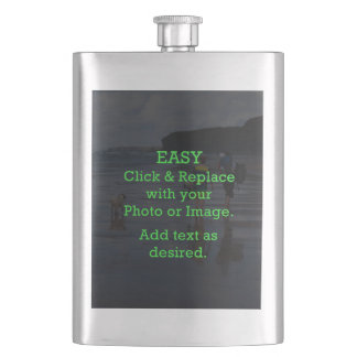Easy Click & Replace Image to Create Your Own Hip Flask