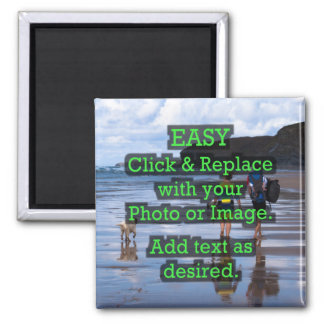 Easy Click & Replace Image to Create Your Own Square Magnet