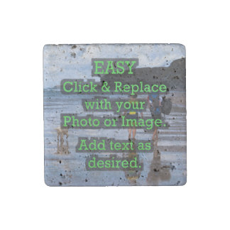 Easy Click & Replace Image to Create Your Own Stone Magnet