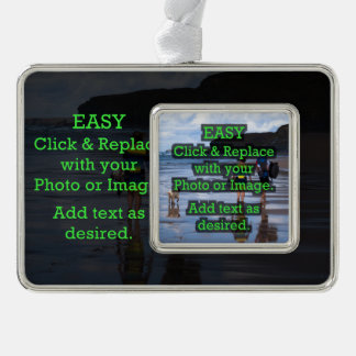 Easy Click to Create Your Own Photo on Photo Silver Plated Framed Ornament