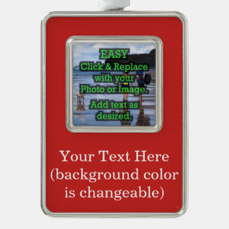 Easy Click to Create Your Own Photo Silver Plated Framed Ornament