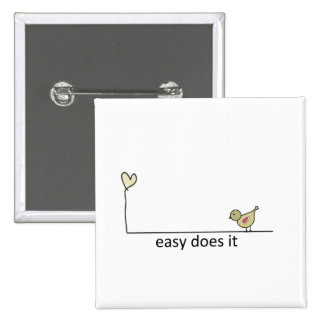 easy does it 15 cm square badge