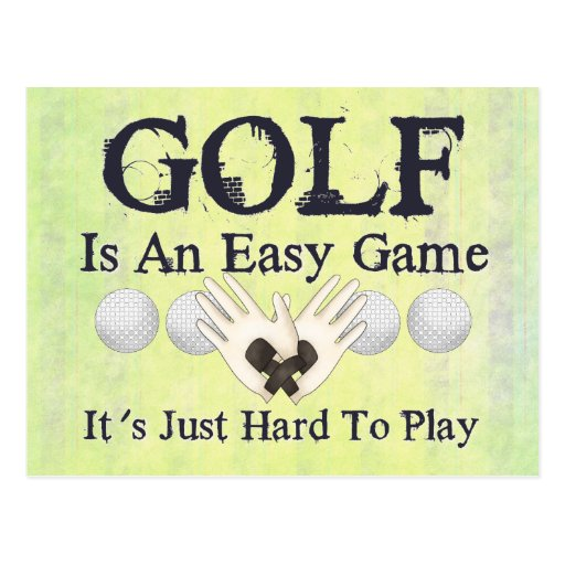 Easy Golf Post Cards
