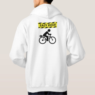 """Easy rider"" ebike cycling hoodies for men"