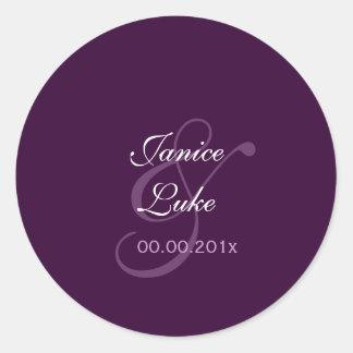 Easy Template stickers/purple/plum Classic Round Sticker