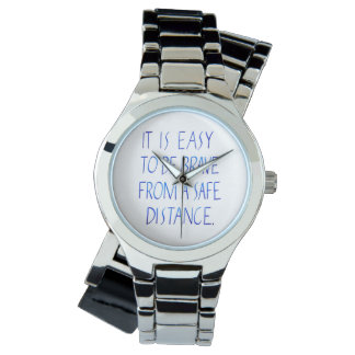 Easy to be brave inspirational quote typography watch