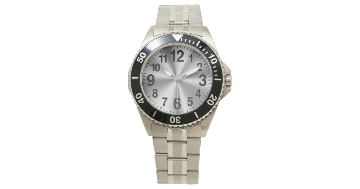 Easy To Read Watches For Seniors With Big Numbers Zazzle