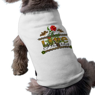 Eat and Live Healthy Dog Tee Shirt