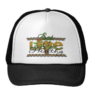 Eat and Live Healthy Mesh Hat