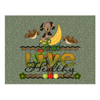 Eat and Live Healthy Postcard