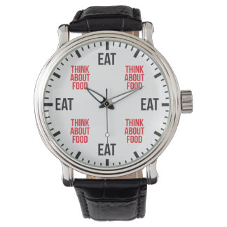 Eat and Think About Food - Funny Novelty Watch