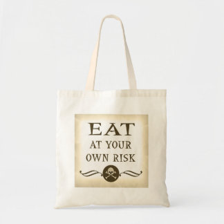 Eat At Your Own Risk Halloween Trick Or Treat Bag