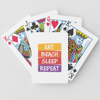 Eat Beach Sleep Repeat Bicycle Playing Cards