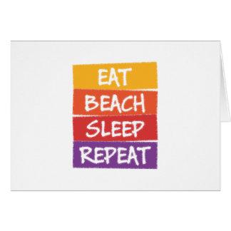Eat Beach Sleep Repeat Card