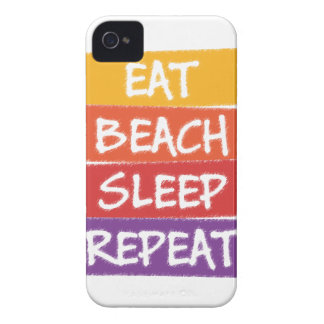Eat Beach Sleep Repeat Case-Mate iPhone 4 Cases