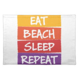 Eat Beach Sleep Repeat Place Mats