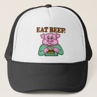 Eat Beef Funny T-shirts Gifts Trucker Hat