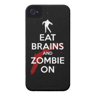eat brains and zombie on iPhone 4 covers