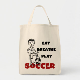 Eat Breathe Play Soccer T shirts and Gifts Bags