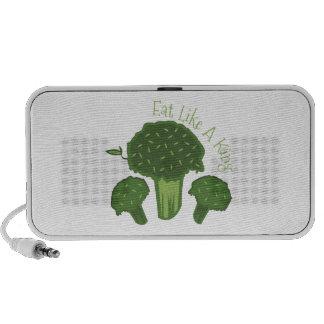 Eat Broccoli Laptop Speakers