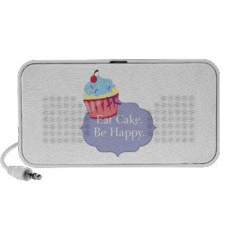 Eat Cake Be Happy Travel Speaker