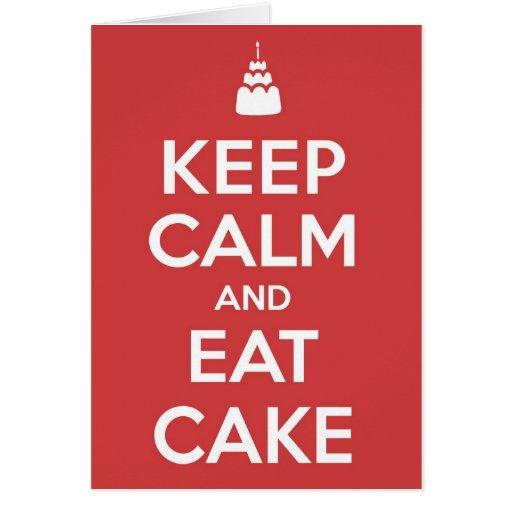Eat Cake Greeting Cards