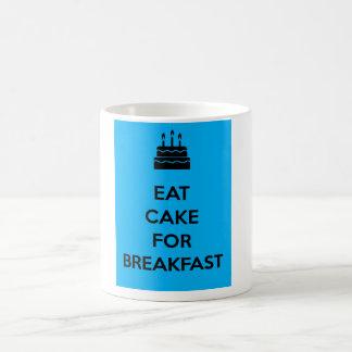 Eat Cake for Breakfast Basic White Mug