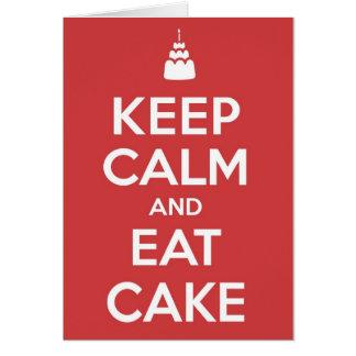 Eat Cake Greeting Card