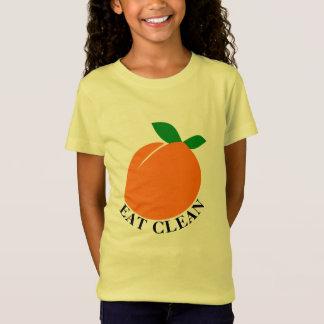 EAT CLEAN Girls' Fine Jersey T-Shirt