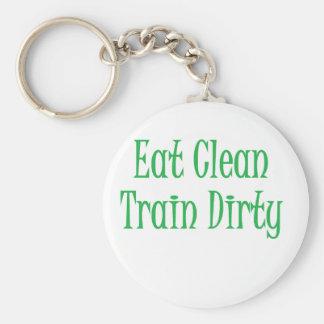 Eat clean green keychain