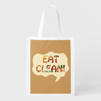 Eat Clean Healthy Tote Bag