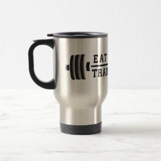 Eat Clean, Train Dirty - Workout Inspirational Travel Mug