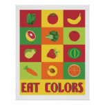 Eat Colours Fruit and Vegetable poster