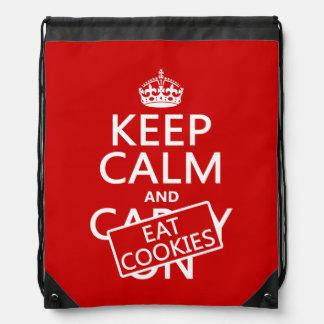 Eat Cookies Drawstring Bags