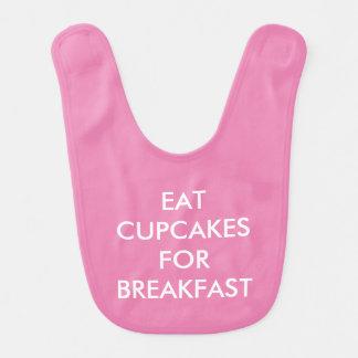EAT CUPCAKES FOR BREAKFAST / HANGRY Pink Baby Bib