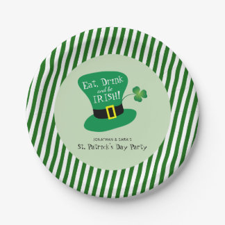 Eat, Drink and Be Irish St. Patrick's Day Party Paper Plate