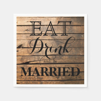 Eat Drink and be Married Paper Napkins