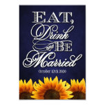 Eat Drink and Be Married Rustic Wedding RSVP Cards 9 Cm X 13 Cm Invitation Card