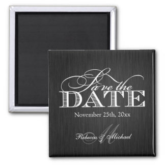 Eat Drink and be Married -  Save the Date Square Magnet