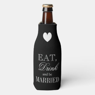 Eat drink and be married wedding bottle coolers