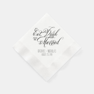 Eat Drink and Be Married | Wedding Disposable Serviettes