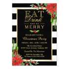 Eat Drink and Be Merry Christmas Party Invitation