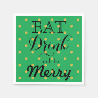 Eat Drink and be Merry Disposable Serviettes
