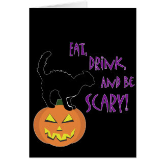 Eat, Drink, and be Scary! Card