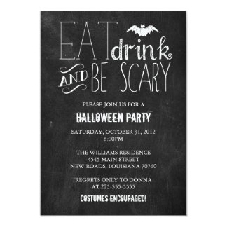 Eat Drink and Be Scary | Chalkboard Card