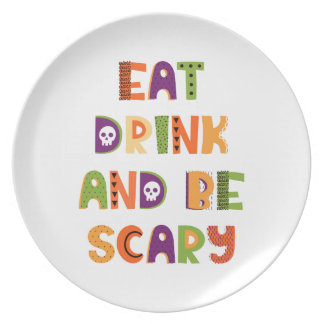 Eat Drink and Be Scary Dinner Plate