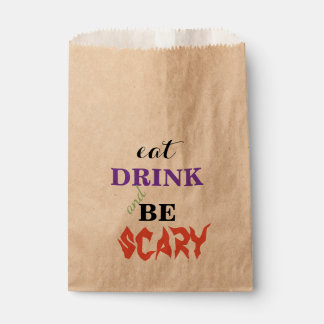 EAT Drink and be Scary Halloween Favour Bags