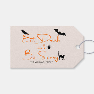 Eat Drink and Be Scary Halloween Gift Tags