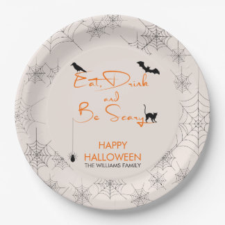 Eat Drink and Be Scary Halloween Paper Plates