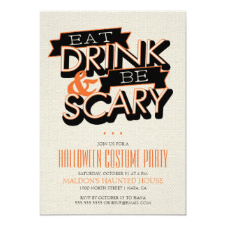 Eat Drink And Be Scary Halloween Part Invitation